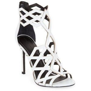Kendall & Kylie Elena Cage Sandal | White | 7.5